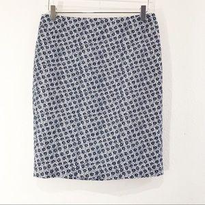 Ann Taylor Daisy Floral Pencil Skirts sz 6